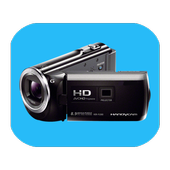 Background video recording camera icon