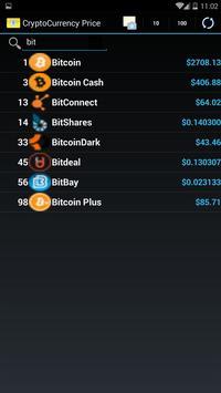 CryptoCurrency exchange rate apk screenshot