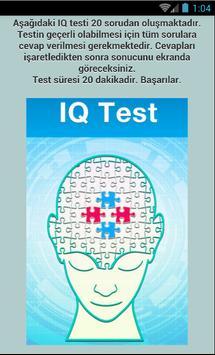 Ücretsiz Zeka Testi - IQ Ölçün poster