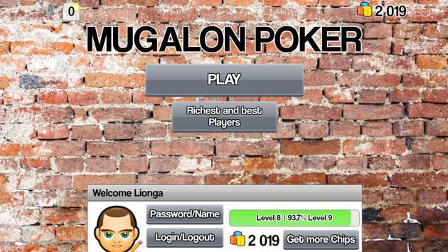 Mugalon Poker Royal holdem 3D apk screenshot
