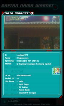Aplikasi Pemetaan Warnet apk screenshot
