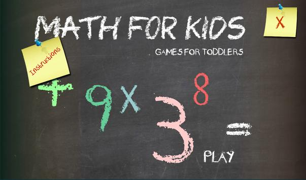 Math for Kids poster
