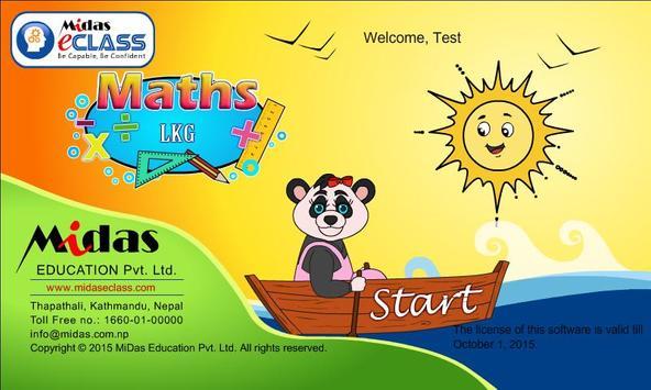 MiDas eCLASS LKG Maths Demo apk screenshot