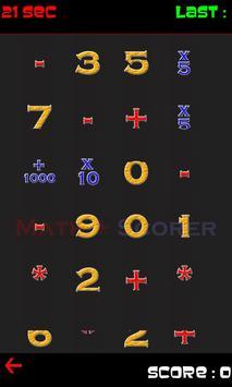Math Scorer poster