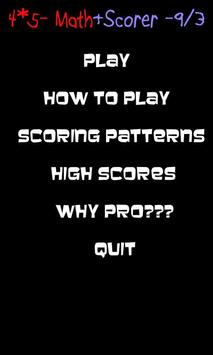 Math Scorer apk screenshot