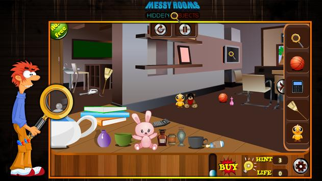 Messy Rooms Hidden Objects screenshot 10