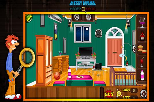 Messy Rooms Hidden Objects screenshot 3