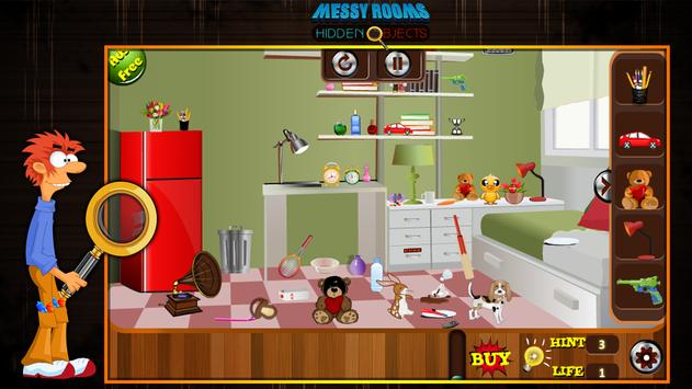 Messy Rooms Hidden Objects screenshot 8