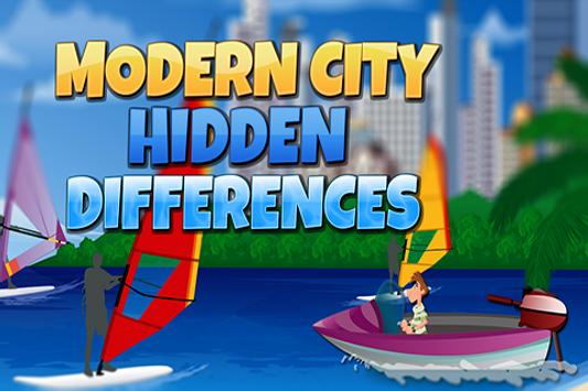 Modern City Hidden Differences poster