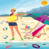 Mommy Cleaning Beach icon