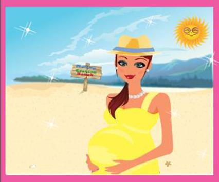 Mommy Cleaning Beach poster