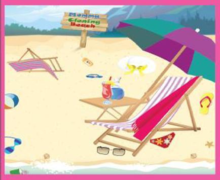 Mommy Cleaning Beach apk screenshot