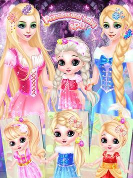 Princess And Baby makeup Spa poster