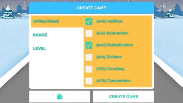 Fun math game for kids online apk screenshot