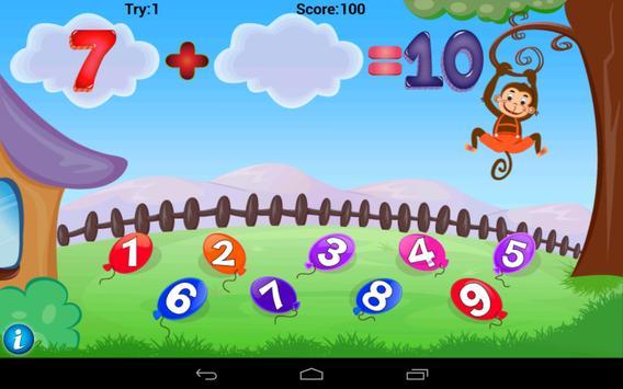 Math Addition Game For Kids apk screenshot