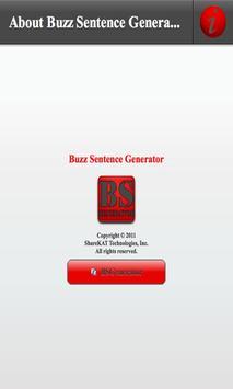 Buzz Sentence Generator poster