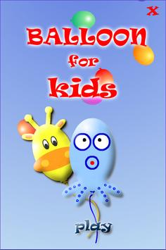 Balloon POP Games for toddlers poster