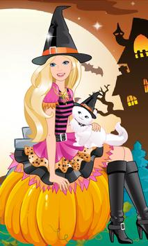 Dress Up Barbie Halloween poster