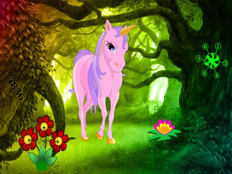 Big Unicorn Fantasy Land Escape screenshot 3