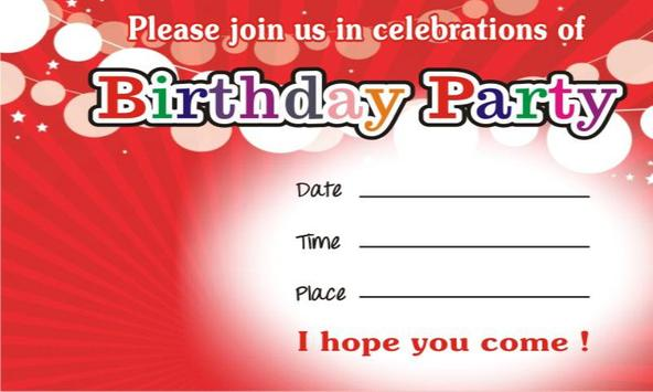 Birthday invitation cards apk download free communication app birthday invitation cards apk screenshot stopboris Gallery