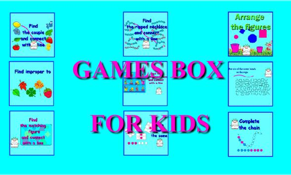 Box with games poster