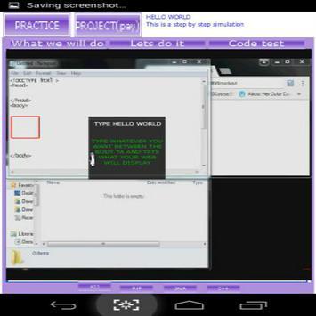 Html and css interactive tutorial screenshot 1