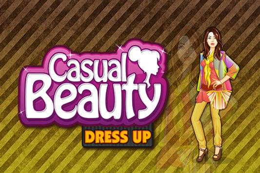 Casual Beauty Dress up poster