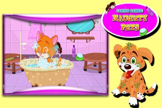 Caring Games : Naughty Pets screenshot 3