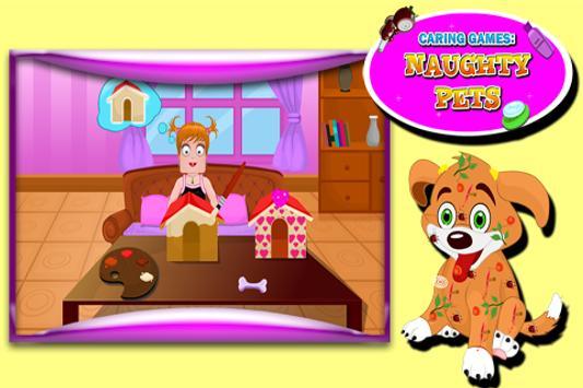 Caring Games : Naughty Pets screenshot 1