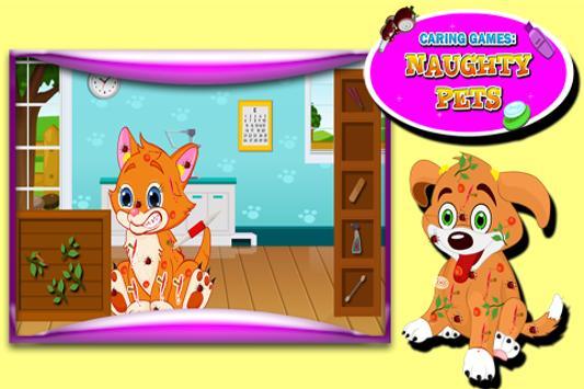Caring Games : Naughty Pets screenshot 2