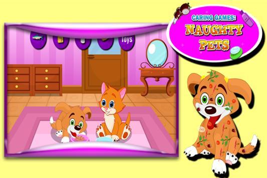 Caring Games : Naughty Pets screenshot 4