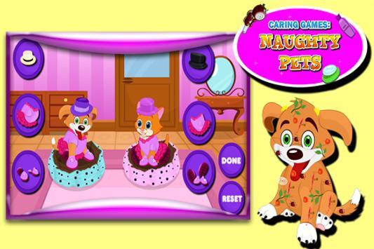 Caring Games : Naughty Pets screenshot 5