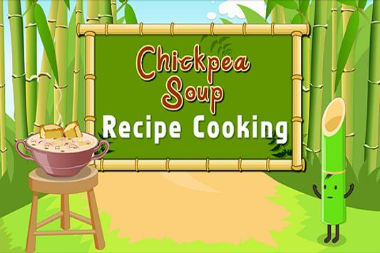 Chickpea Soup Recipe Cooking poster