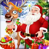Christmas Santa Care Reindeer icon