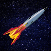 Rocket - speed of mind. Mathematics and Space. icon