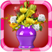 Coloring Book Flowers icon