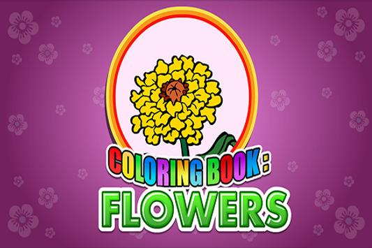 Coloring Book Flowers poster