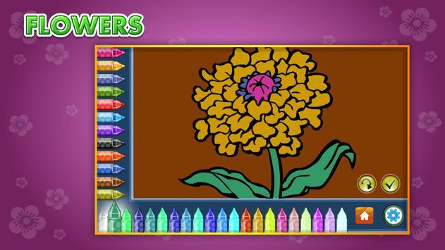 Coloring Book Flowers screenshot 14