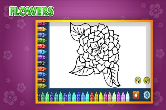 Coloring Book Flowers screenshot 1