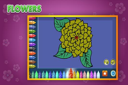 Coloring Book Flowers screenshot 2