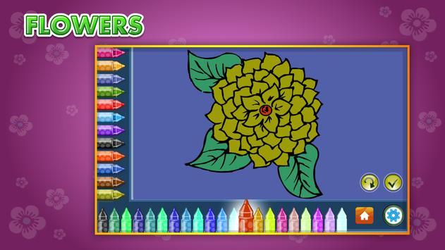 Coloring Book Flowers screenshot 7