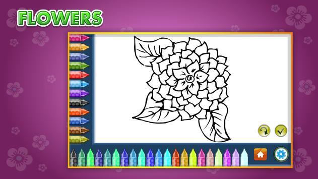 Coloring Book Flowers screenshot 6