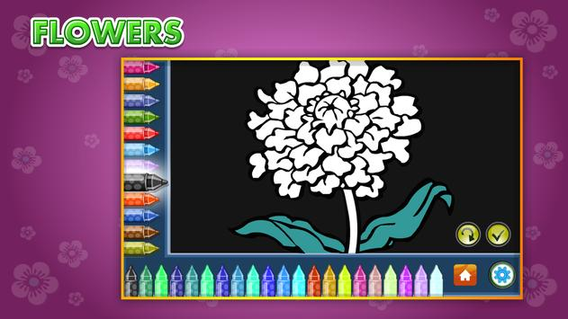 Coloring Book Flowers screenshot 8