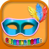 Coloring Book Masquerade Masks icon