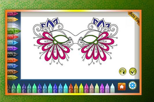 Coloring Book Masquerade Masks screenshot 3