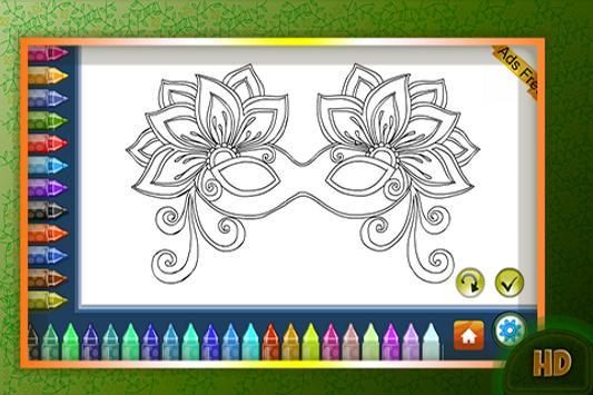 Coloring Book Masquerade Masks screenshot 2