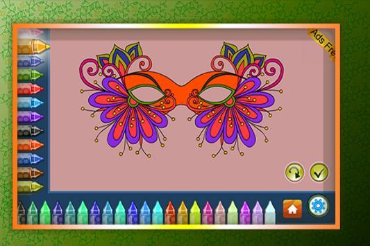 Coloring Book Masquerade Masks screenshot 4