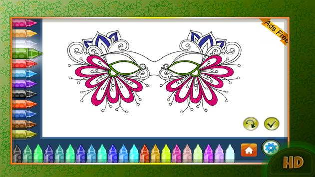 Coloring Book Masquerade Masks apk screenshot