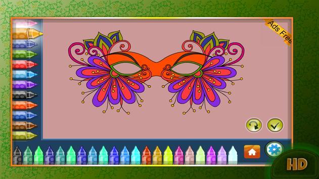 Coloring Book Masquerade Masks screenshot 9