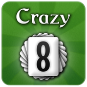 Crazy 8s card game icon